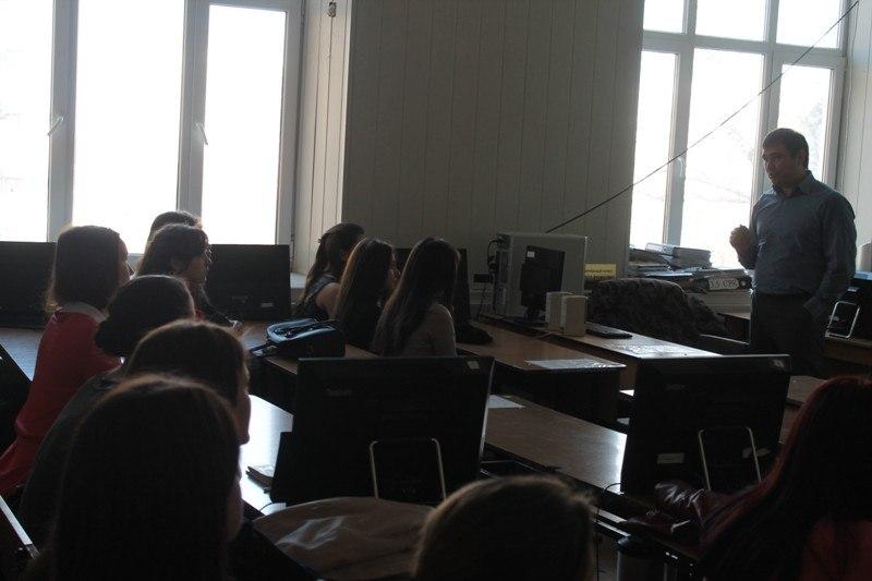 Семинар со студентами в БГУ